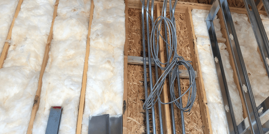 insulation in walls.